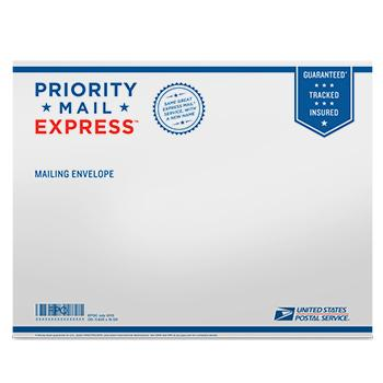 "Priority Mail Express Tyvek Envelope 15 1/8"" x 11 5/8"", 10/pack"