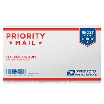 "Priority Mail Small Flat Rate Envelope 10"" x 6"", 10/pack"