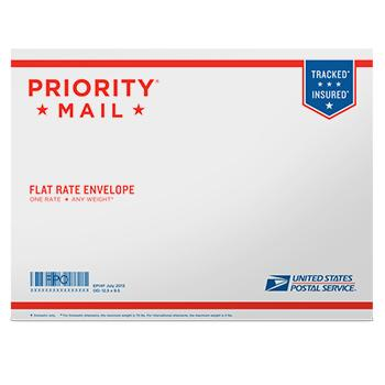 "Priority Mail Flat Rate Envelope 12 1/2"" x 9 1/2"", 10/pack"
