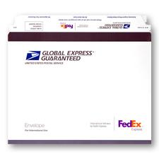 "Global Express Guaranteed Envelope 12 1/2"" x 11 1/8"", 10/pack"