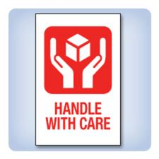 Handle With Care Labels (SDC-5110), 200 labels/pack