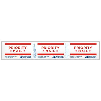 Priority Mail Outside Pressure Sensitive Label, 10/pack