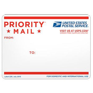 Priority Mail Address Label, 10/pack