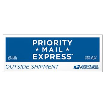 Priority Mail Express Outside Pressure Sensitive Label, 10/pack