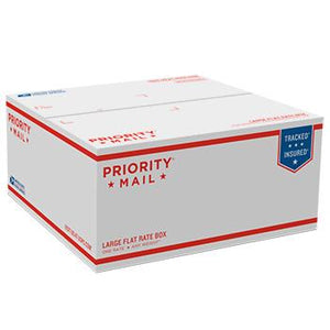 "Priority Mail Large Flat Rate Box, 12 1/4"" x 12 1/4"" x 6"", 25/pack"