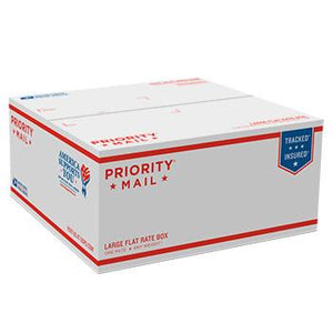 "Priority Mail APO/FPO Flat Rate Box 12 1/4"" x 12 1/4"" x 6"", 25/pack"