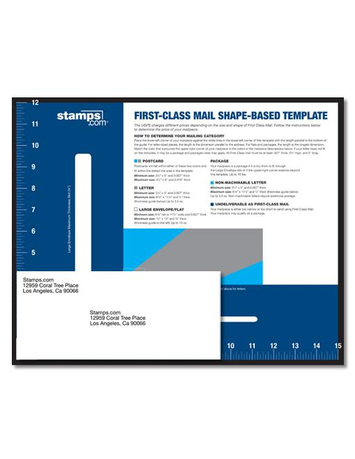 First-Class Mail Shape-Based Template