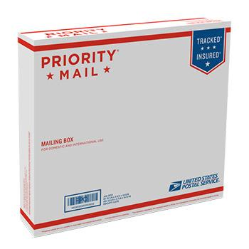 "Priority Mail Box 13 11/16"" x 12 1/4"" x 2 7/8"", 25/pack"