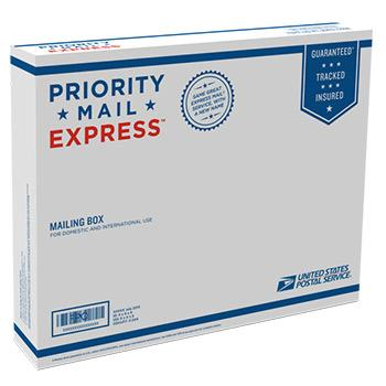 "Priority Mail Express Box 15 5/8"" x 12 7/16"" x 3 1/8"", 25/pack"