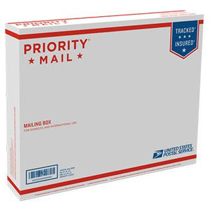 "Priority Mail Box 15 5/8"" x 12 7/16"" x 3 1/8"", 25/pack"