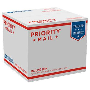 "Priority Mail Box 6 1/2"" x 7 1/4"" x 7 1/4"", 25/pack"