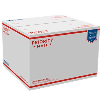 "Priority Mail Box 12 1/4"" x 12 1/4"" x 8 1/2"", 25/pack"