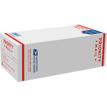 "Priority Mail Shoe Box 7 1/2"" x 5 1/8"" x 14 3/8"" 25/pack"