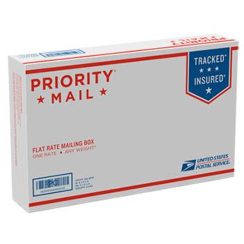 "Priority Mail Small Flat Rate Box 8 5/8"" x 5 3/8"" x1 5/8"", 25/pack"