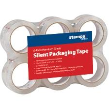 Silent Packaging Tape, 6 Rolls