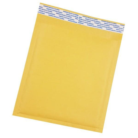 "Size (#CD) 7.25""x7"" Kraft Bubble Mailer with Peel-N-Seal"