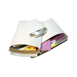 "Size 13""x18"" White Rigid Mailer with Peel-N-Seal"