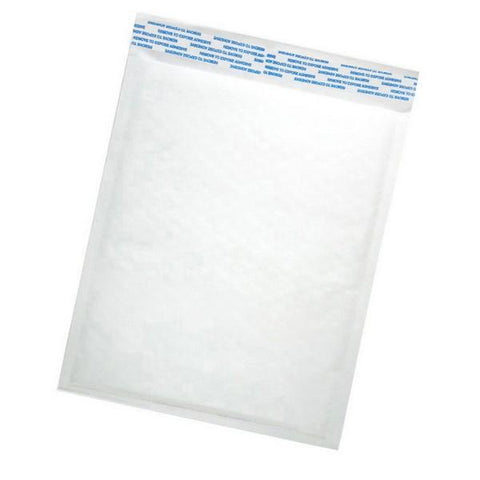 "Size (#0) 6.5""x10"" White Bubble Mailer with Peel-N-Seal"