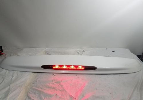 02 - 09 GMC ENVOY CHEVY TRAILBLAZER REAR HATCH SPOILER W/ 3RD BRAKE LIGHT WHITE
