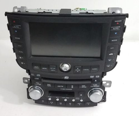04-06 ACURA TL 6 DISC CD DVD PLAYER NAVIGATION RADIO SCREEN LCD OEM 39100SEPA400
