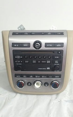 06- 07 NISSAN MURANO RADIO CD PLAYER W/ HEATER AC CONTROL PANEL OEM