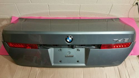 02-05 BMW 745I TRUNCK LID DECK TAIL GATE LIFT GRAY METALLIC ASSEMBLY OEM