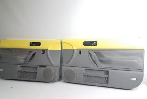 1998-2010 VOLKSWAGEN BEETLE POWER DOOR PANELS YELLOW & GRAY PAIR OEM