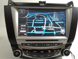 03-07 HONDA ACCORD DVD GPS NAVIGATION RADIO STEREO A/C B/T