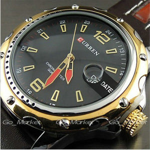 Men's Quartz Red Date Watch TK79 - TimeKingz Watch Shop