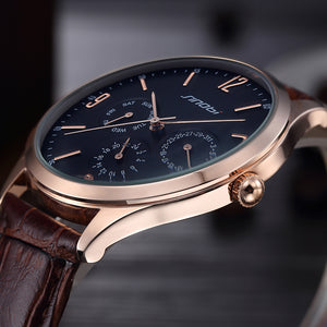 Men's Ultra Slim Top Brand Quartz Watch - Leather Analog Watch
