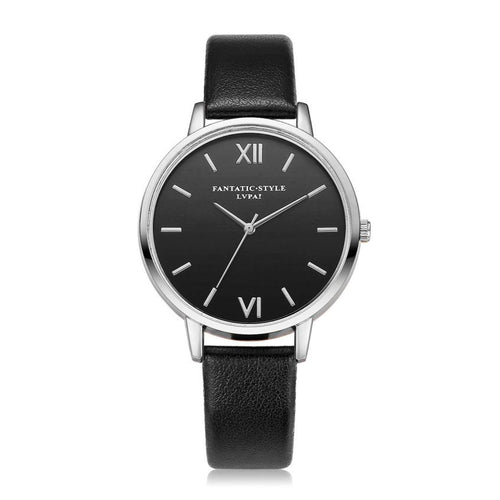 Unisex Luxury PU Leather Ultra Thin Quartz Watch