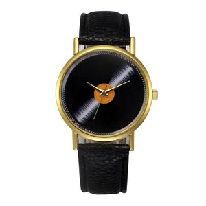 Womens Record Style Quartz Watch