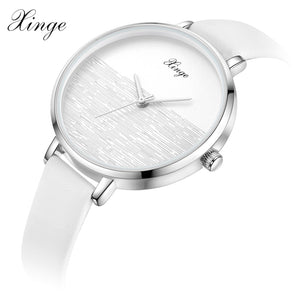 Vintage Leather Womens Watches Casual Quartz Watch
