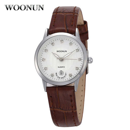 Womens Watch Luxury Brand Genuine Leather Quartz Wrist Watches Ultra Thin Crystal Hodinky