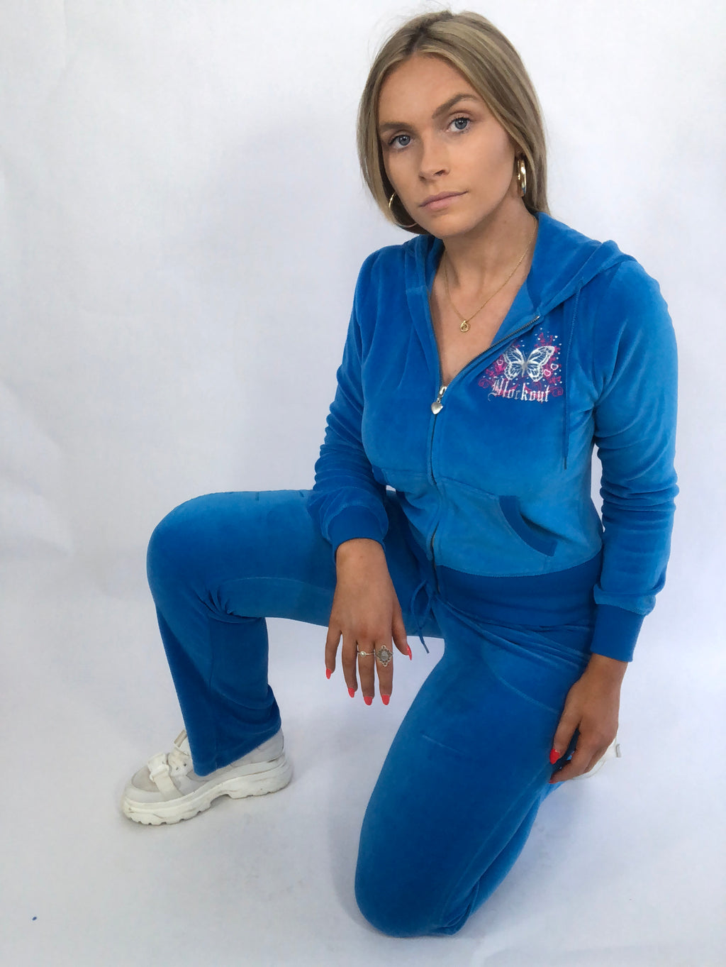Blue Velour Tracksuit