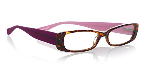 eyebobs Co-Conspirator, 2136 54, Tortoise and Pink/Purple, +2.25 Reading Glasses - Multiple Magnifications