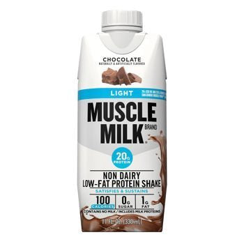Chocolate Muscle Milk Light Ready-to-Drink Shake, 18 Individual Screw Top 11-Ounce Cartons