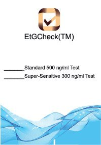 Alcohol Etg Check(TM) Ten Urine Test Dip Cards - - 300 ng/mL Cut-0ff- Tests 80 Hours Back (Multiple Quantities) (10 tests)