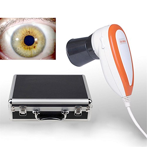 Denshine® New 5.0M Pixels USB Left/Right lamp Eye Iriscope Iris Analyzer Analysis Iridology Camera with Pro Iris Software FCC,CE