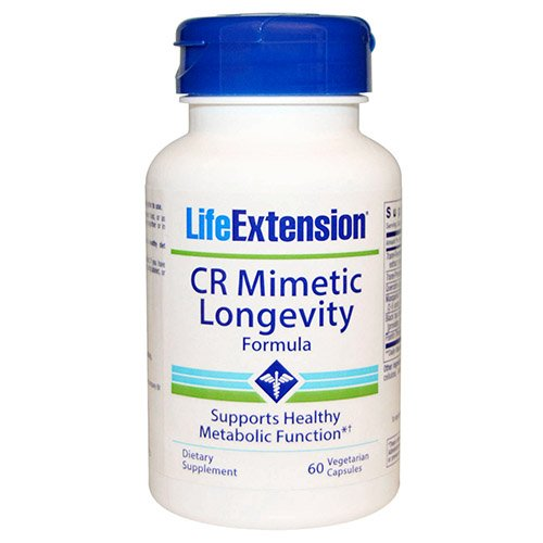 Life Extension CR Mimetic Longevity Formula Vegetarian Capsules, 60 Count