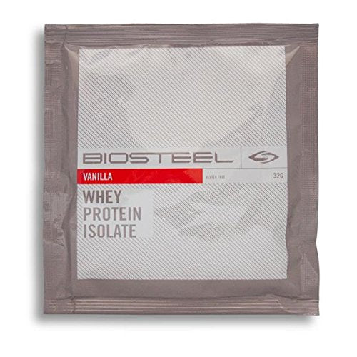 Biosteel Whey Protein Isolate - Promotes Lean Muscle Growth - Fuels Muscles With High Grade Protein Powder - Contains Proprietary Blend Of Amino Acids - Gluten Free - Vanilla - 1 Packet