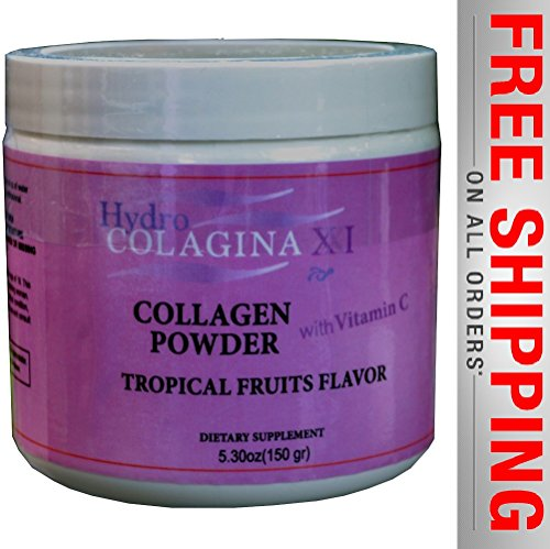 NEW Hidro Colagina Xxi, Hidrolized Collagen Powder with Vitamin C, Colageina 10