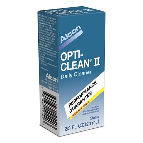 Alcon- Opti-Clean II Daily Cleaner Performance Guarantee 2/3 FL OZ (20mL)