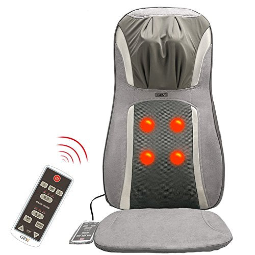 GESS819 Massage Cushion with Heat/Shiatsu Deep Kneading, Rolling,Vibrating - Massage Full Back, Upper back, Lower Back or Pinpoint Precise Massage Spot(3 Year Warranty)