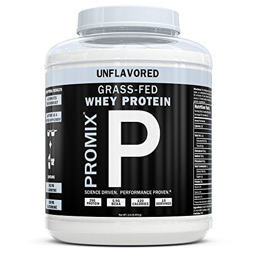 Performance Whey Protein Powder Concentrate - PROMIX Standard 100 Percent All Natural Grass Fed & Undenatured - Best for Optimum Fitness Nutrition Shakes & Energy Smoothie Bowls: Unflavored 1 lb Bulk