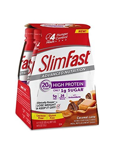 Slim Fast Advanced Nutrition High Protein Ready to Drink Shake, Caramel Latte, 1 Pack (Pack of 2)