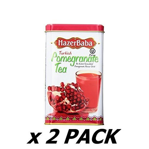 Hazer Baba Turkish Pomegranate Tea 250 Tin (Pack of 2)