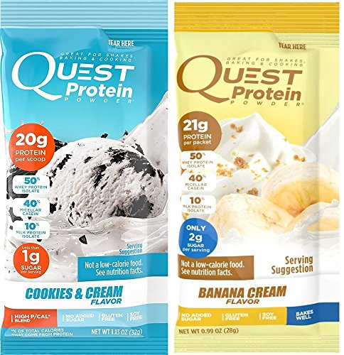 Quest Nutrition Quest Protein Vskmuo Powder, Cookies and Cream/Banana Cream 12 Count (6 of Each)
