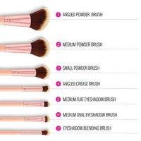 BH Cosmetics Chic - 14 Piece Brush Set with Cosmetic Case