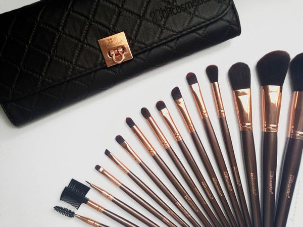 BH Cosmetics Rose Gold - 15 Piece Brush Set